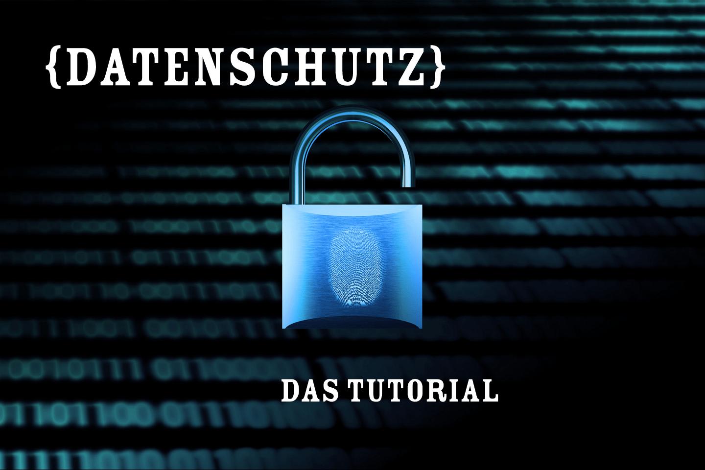 datenschutz tutorial Christoph Scholz Security IT Symbol Picutre Bild - Schloss mit Fingerabdruck vor Nullen und Einsen - Blau - CC BY-SA 2.0
